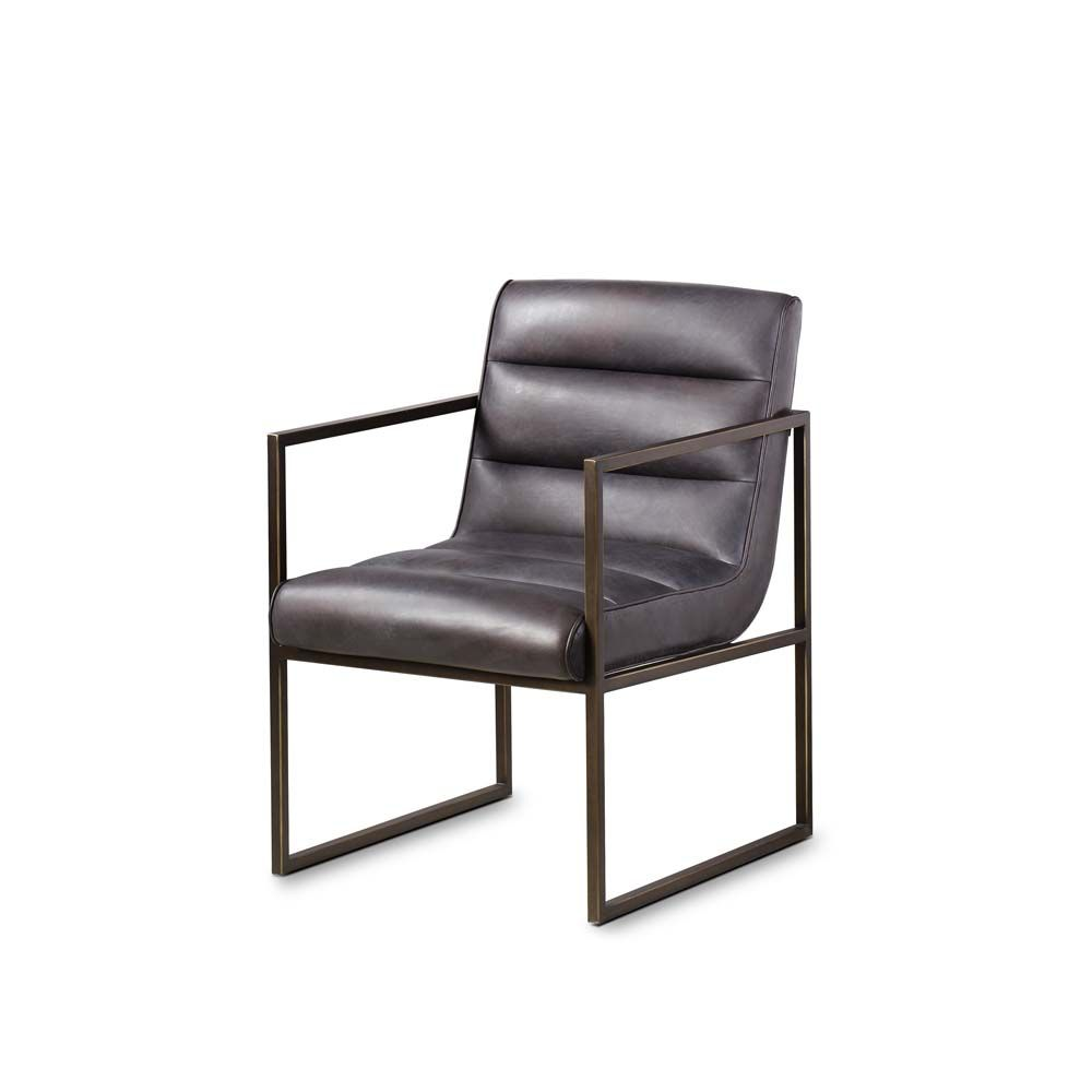 Darby Leather Dining Armchair