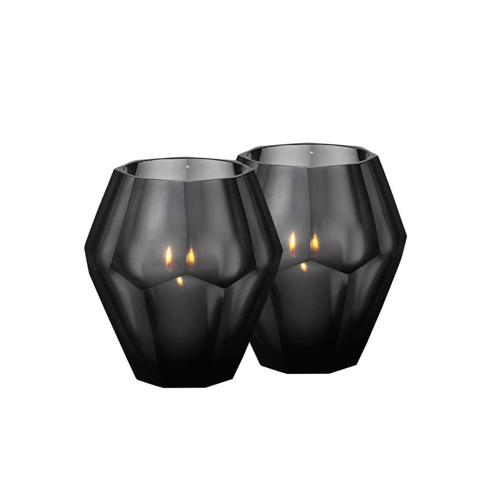 Elizabeth Candle Holder - Black, Large, Set of 2