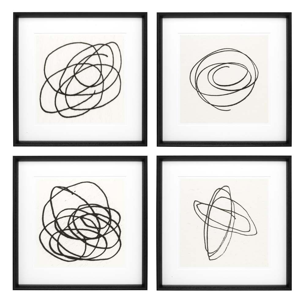 Line Modern Art Prints, Set of 4