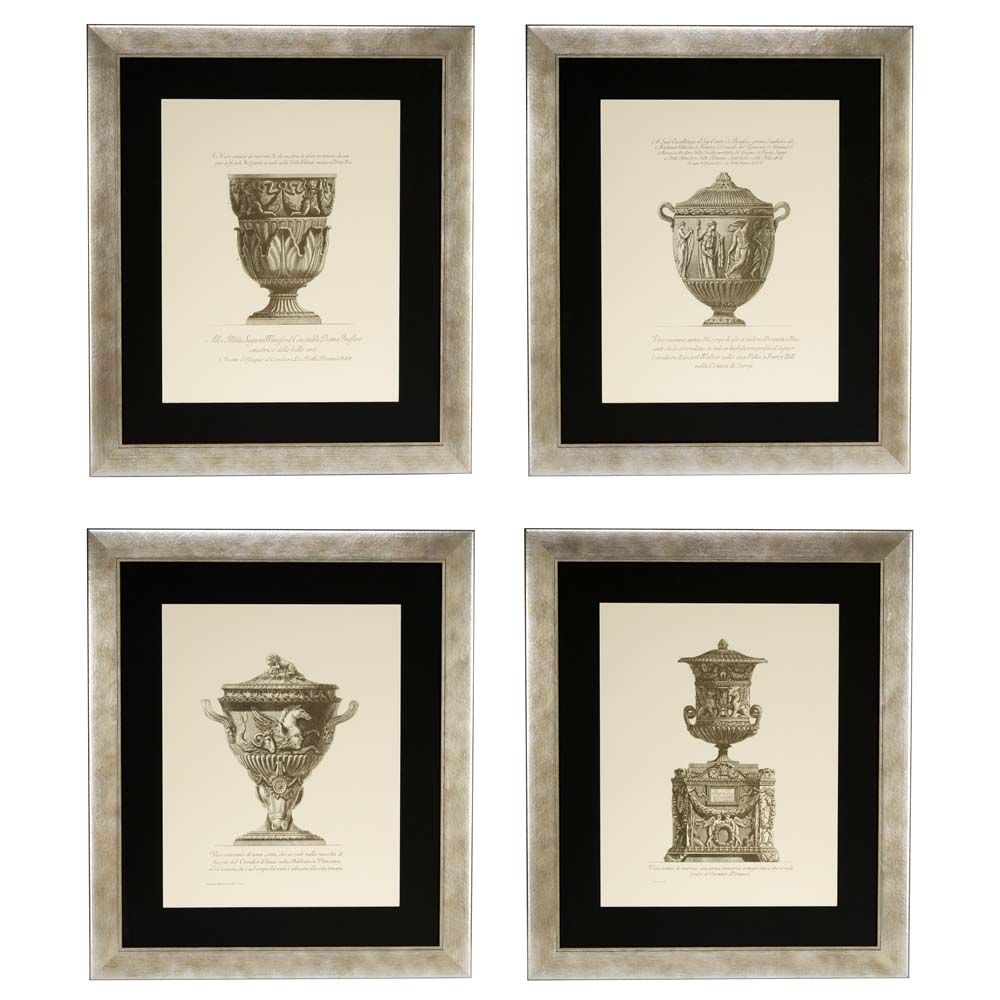 Vase Etchings, Rome 1791, Prints, Set of 4