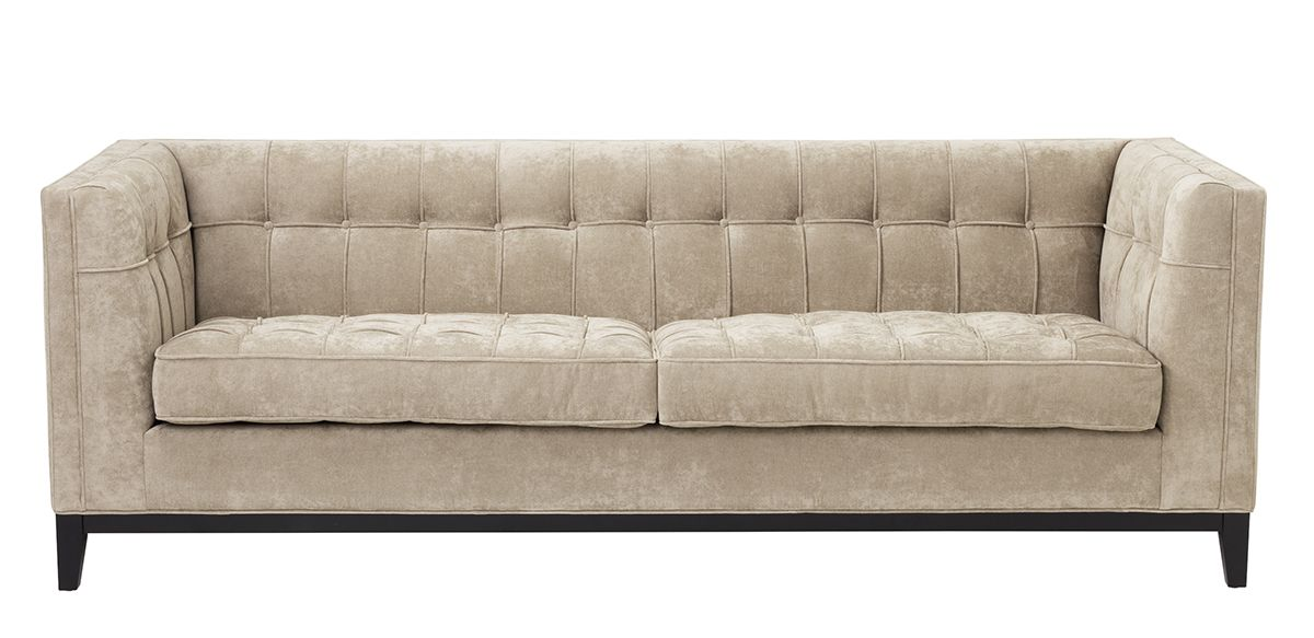 Lexington Velvet Sofa, 91""