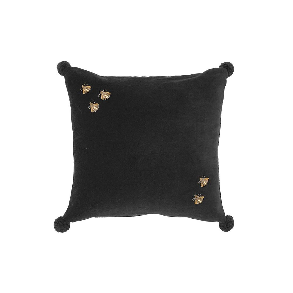 Adeline Velvet Pillow - Black