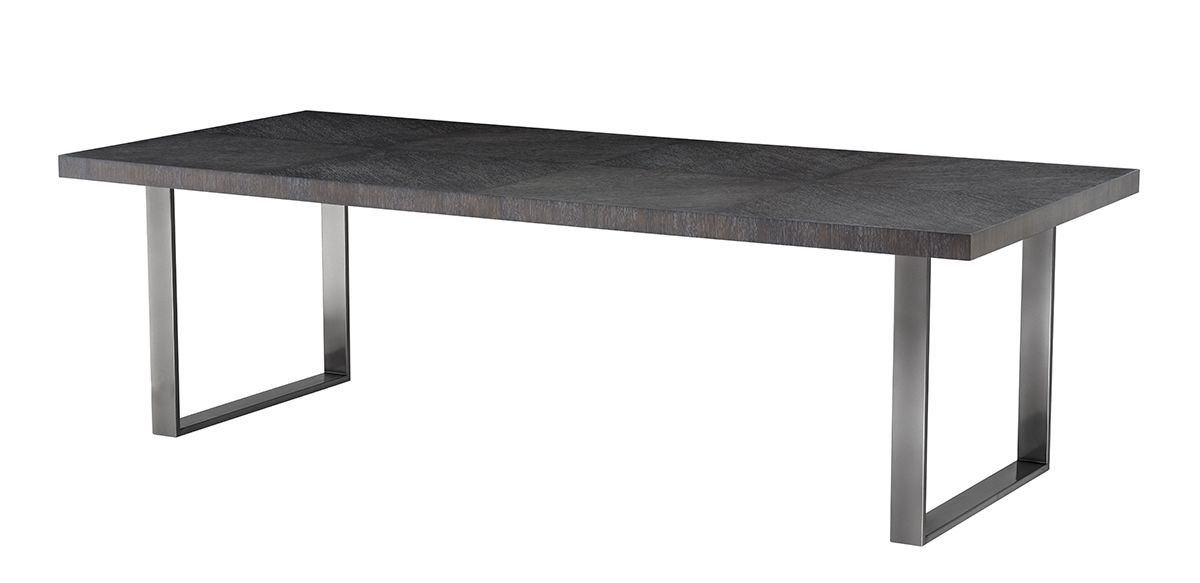 Barnett Dining Table - Charcoal Oak, 98""