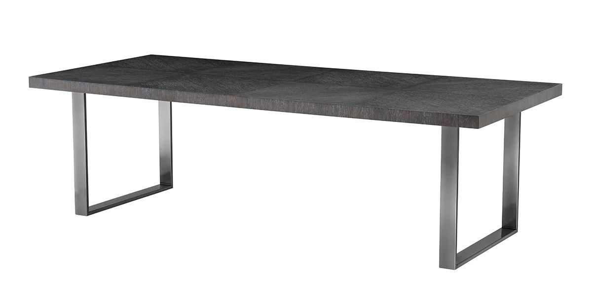 "Hobart Dining Table - Charcoal Oak, 98"""
