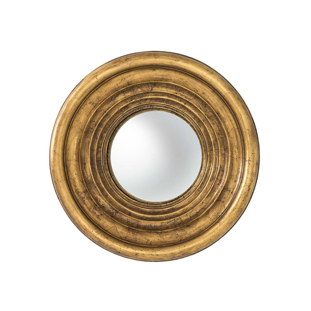 Marlowe Convex Mirror - Gold Leaf