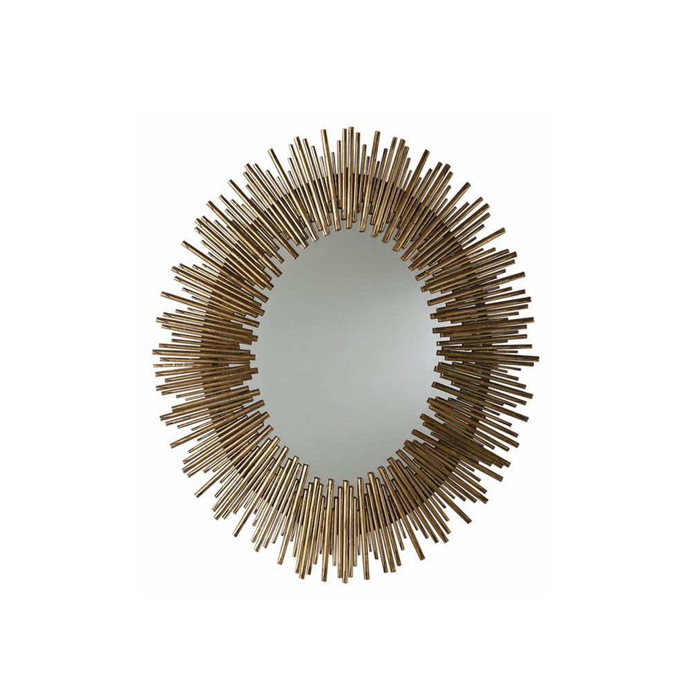 Elvist Oval Mirror - Gold Leaf