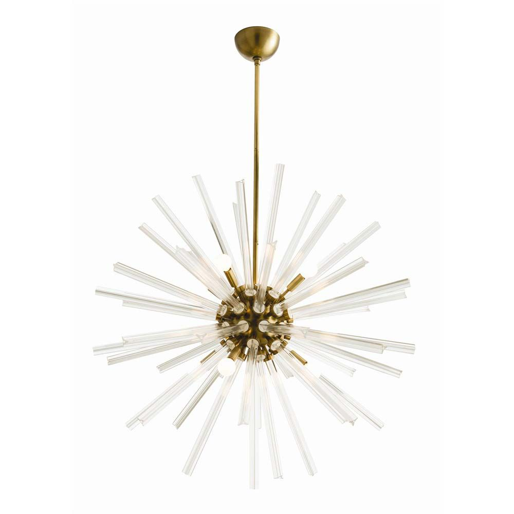 Hanley Chandelier - Antique Brass, Large