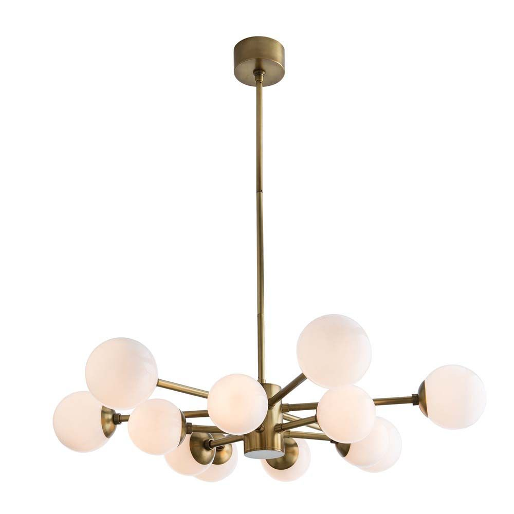 Wynn 12-Light Chandelier - Antique Brass
