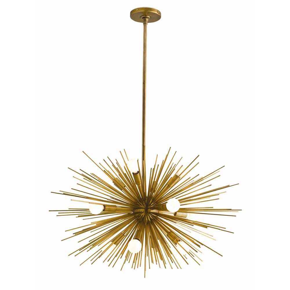 Burston Chandelier - Antique Brass, Small
