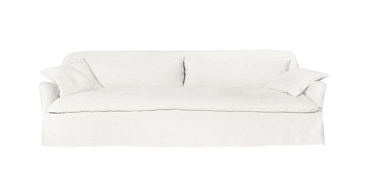 Quinn Slipcovered Sofa - Ivory, 78""