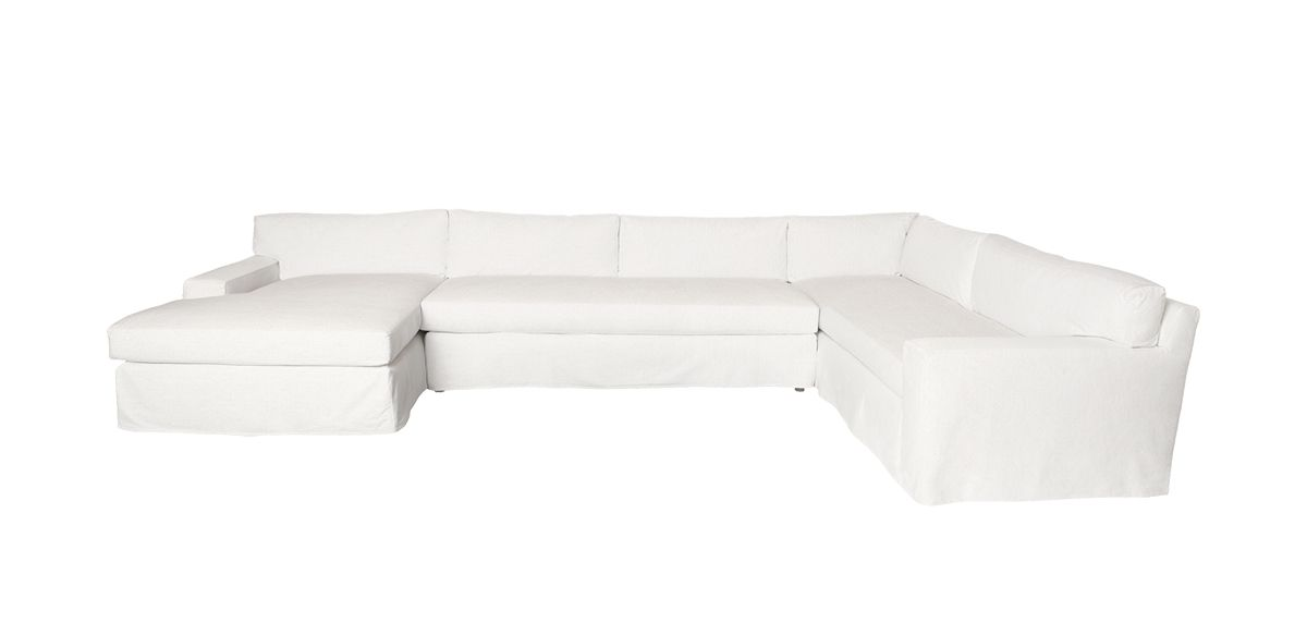 Pierre Slipcovered 3 - Piece Sectional - Ivory