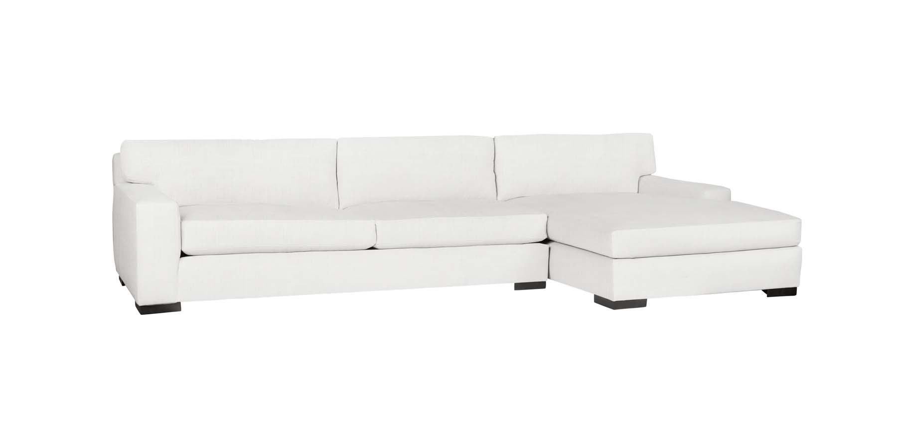 Pierre 2 - Piece Sectional with Chaise - Organic White