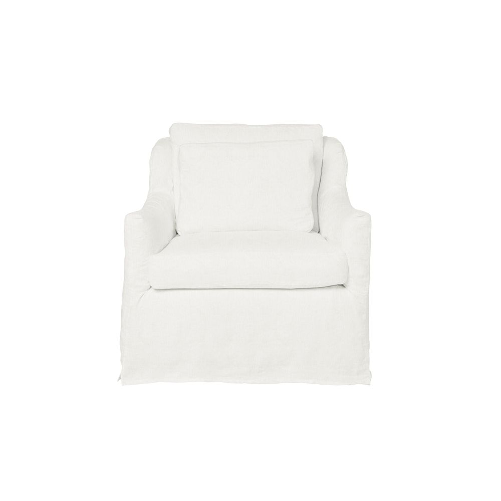 Moffat Slipcovered Chair - Ivory