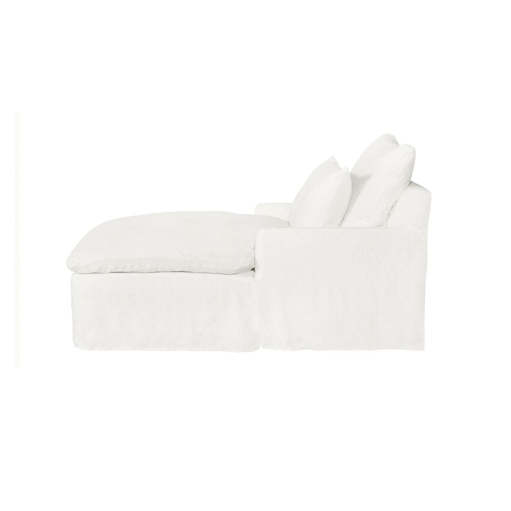 Southampton Wide Slipcovered Chaise - Ivory