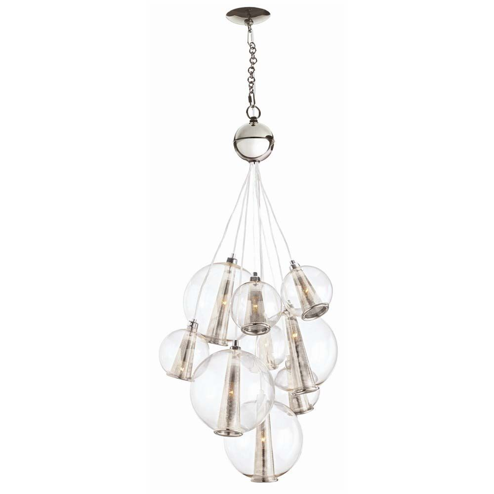 Caviar Cluster Chandelier - Polished Nickel, Small