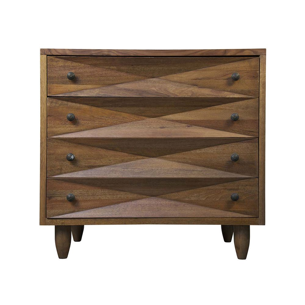 Horton 4 - Drawer Dresser - Walnut