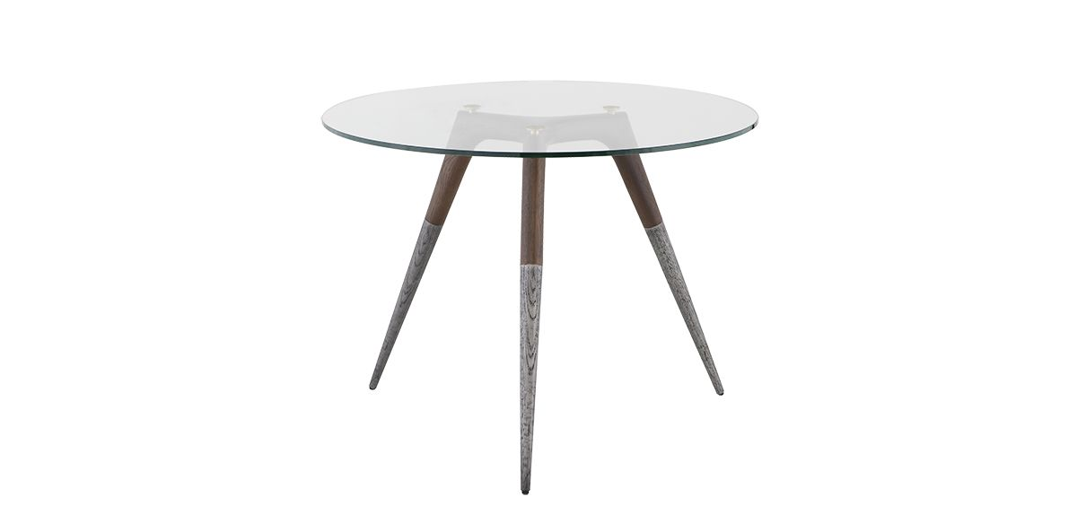 """Somers Round Dining Table - Smoked Oak, 40"""""""