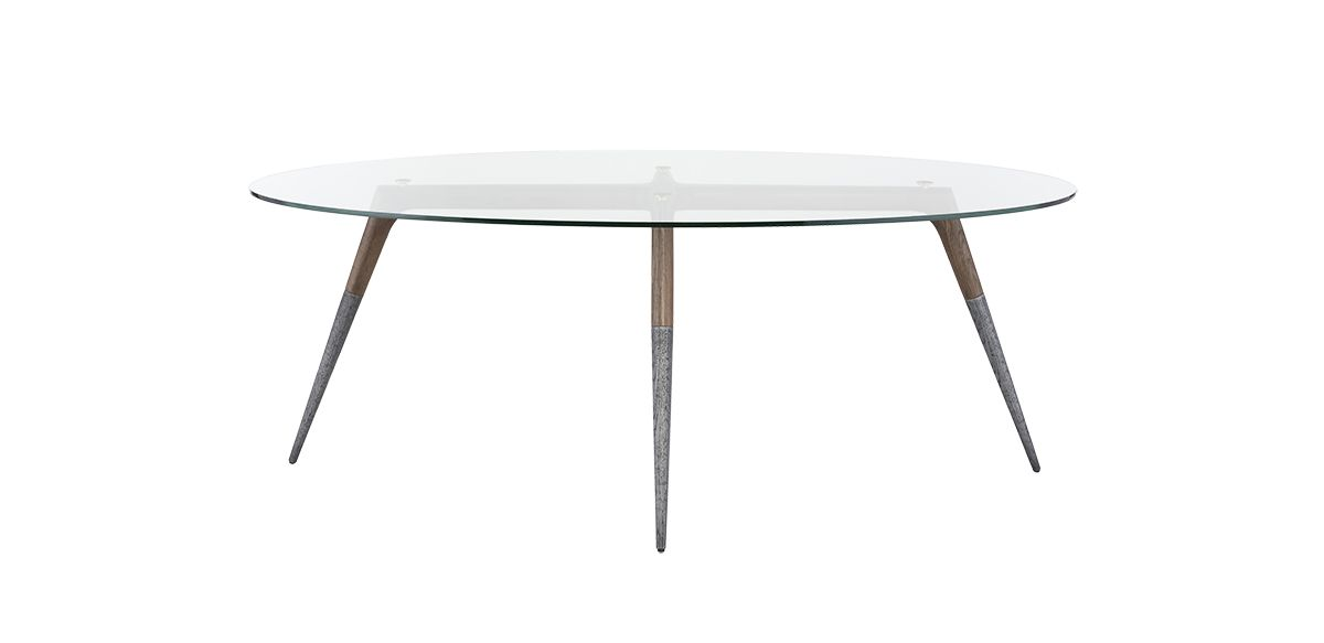 Somers Oval Dining Table - Smoked Oak, 79""
