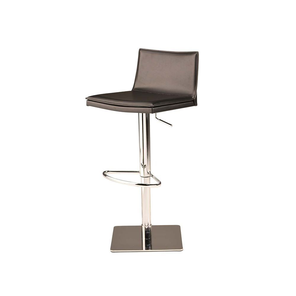 Norden Adjustable Leather Stool - Dark Grey