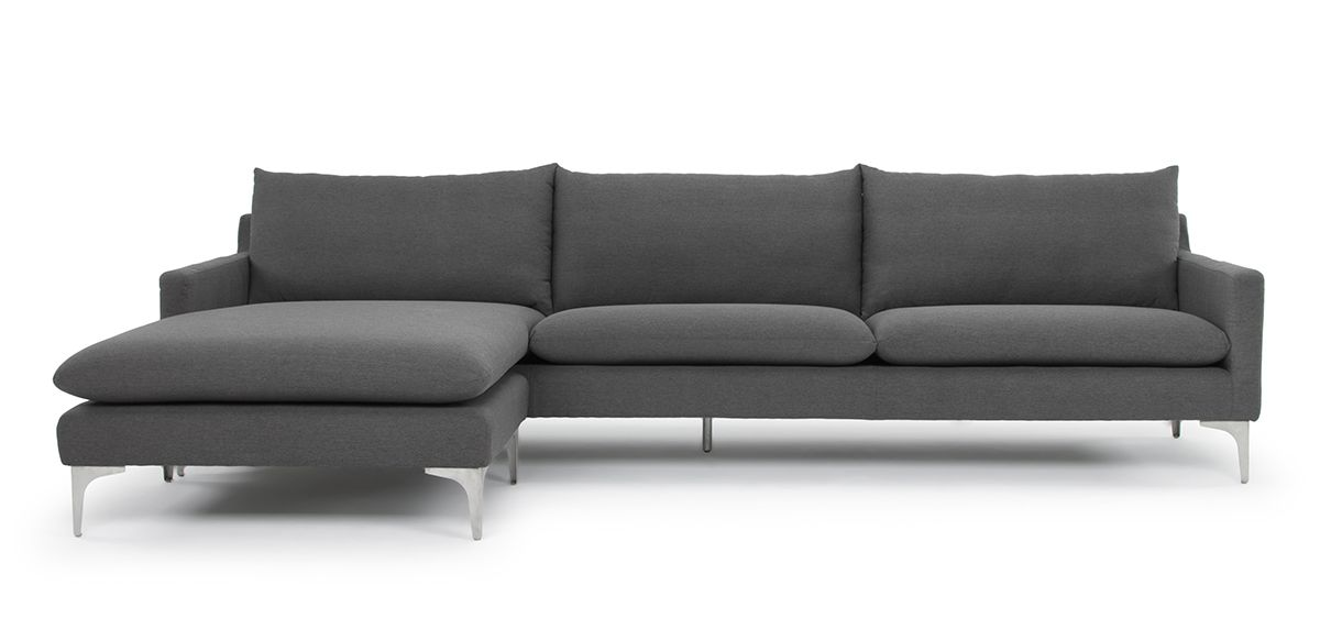 Frank Sectional - Slate Grey