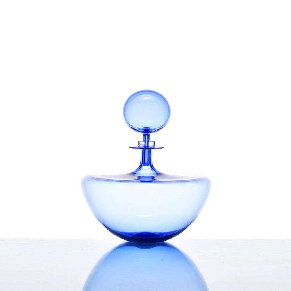 Low Arced Petite Decanter - Ice Blue