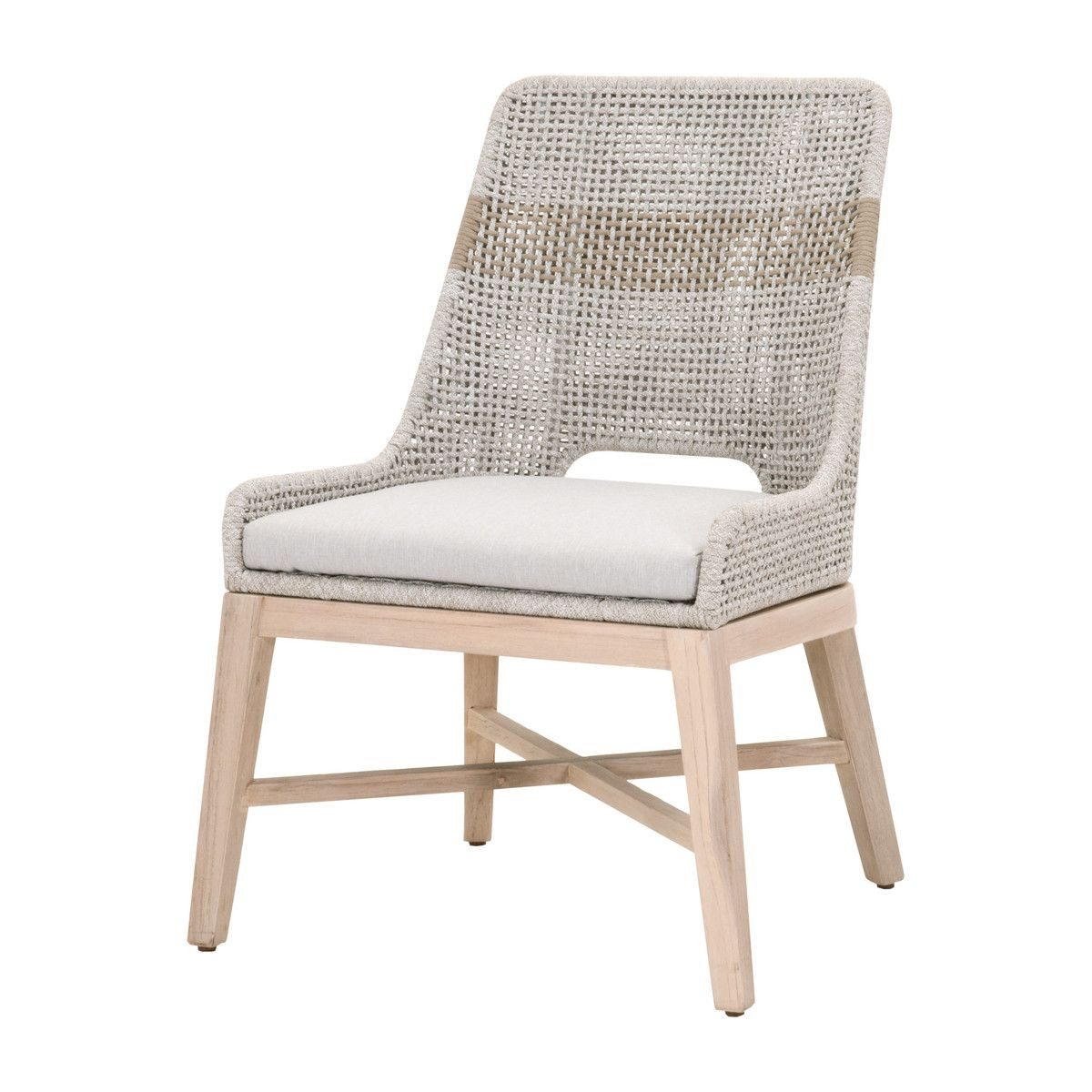 Nile Outdoor Dining Chairs, Taupe - Set of 2