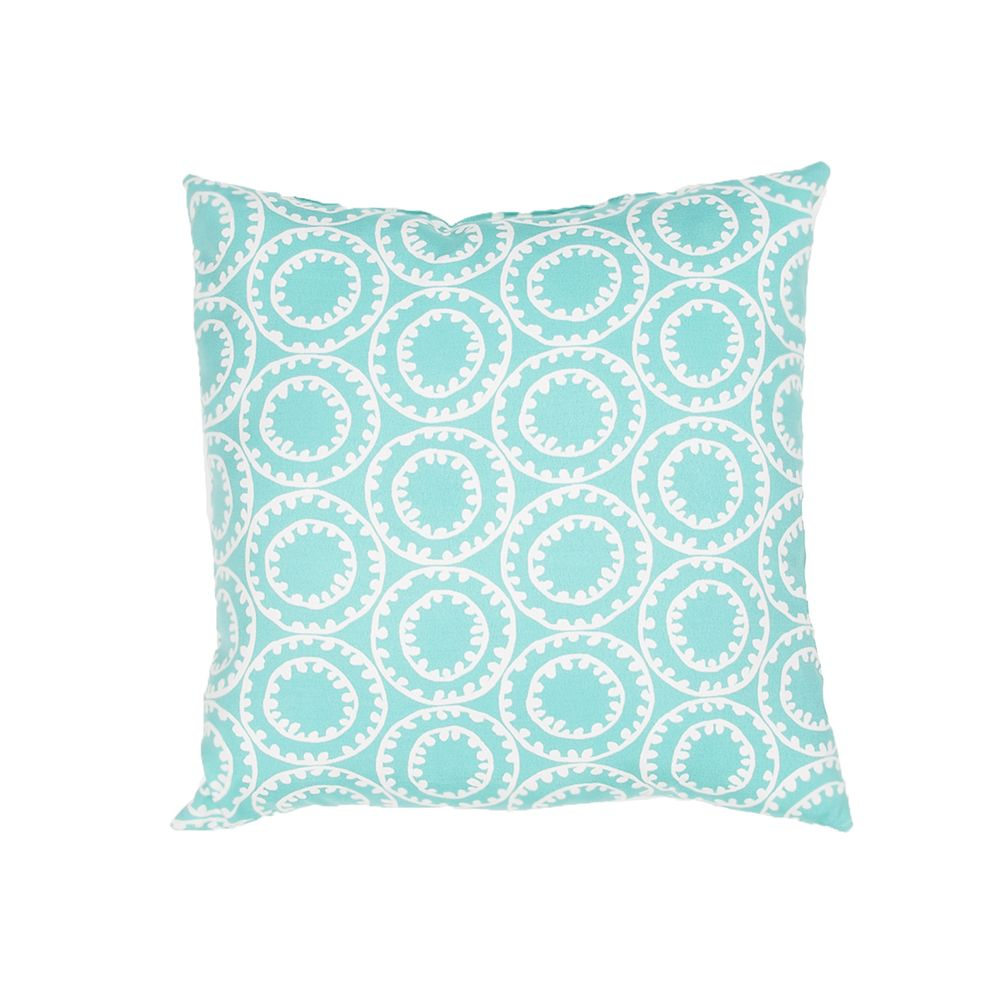 "Veronica Pillow - Turquoise, 18""x18"""
