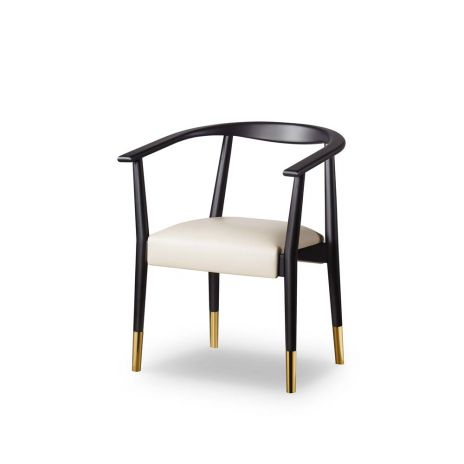 Giselle Dining Chair - Cream and Black