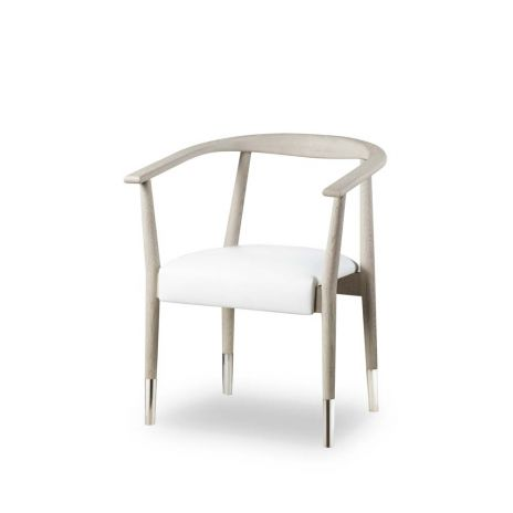 Giselle Dining Chair - White and Grey Oak