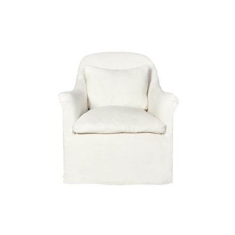 Quinn Slipcovered Chair - Premium Ivory