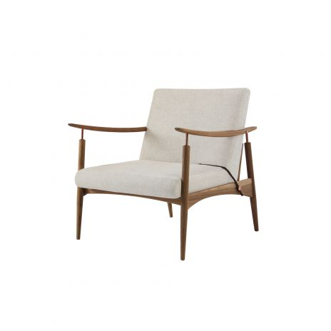 Ludlow Chair - Off White and Walnut